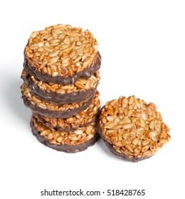 Kozinaki cookies isolated on white background