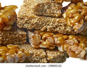 Kozinaki peanuts and sesame seeds