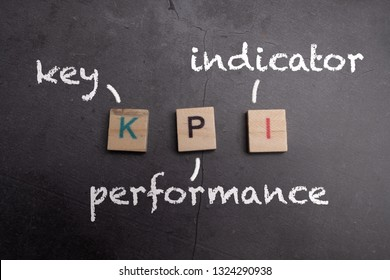 KPI - Key Performance Indicator wooden lettering concept