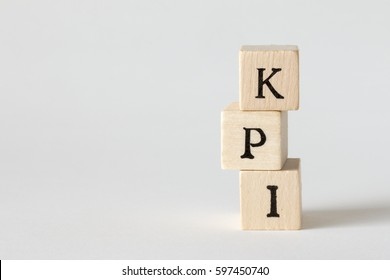 KPI Word Written In Wooden Blocks,Key Performance Indicator