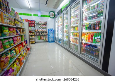 Krabi, 31 january 2015: FamilyMart supermarket in Klong Muang district, Krabi province, Thailand.   FamilyMart is largest  convenience store franchise chain origin from Japan.