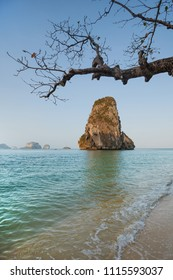 Krabi province in Thailand. The beautiful beaches of Railay