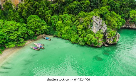 Krabi Railay Beach Island Aerial View