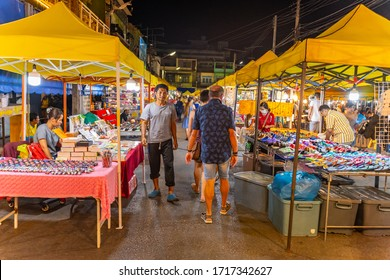 krabi, THAILAND - 29th feb 2020:  Krabi  street Night Market in Krabi Town, Thailand.