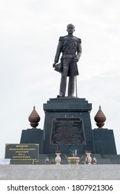 KRABI, THAILAND - AUGUST 16, 2016: Monument of Admiral Phra Borom Wong Their Krom Luang Chumphon Khet Udomsak who is considered the father of the Thai navy.Prince Chumphon Shrine & Memorial.