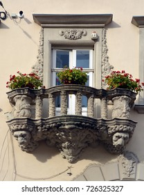 KRACOW POLAND 09 19 17: Details of Art Nouveau in Poland was part of an international Art Nouveau style, although often absorbed into a local Polish style. It was most popular during 1890–1910.