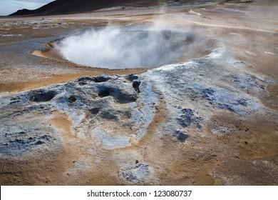 krafla geothermal activity in Iceland