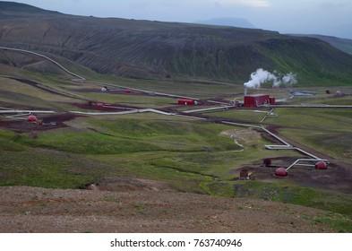Krafla geothermal power station in Iceland