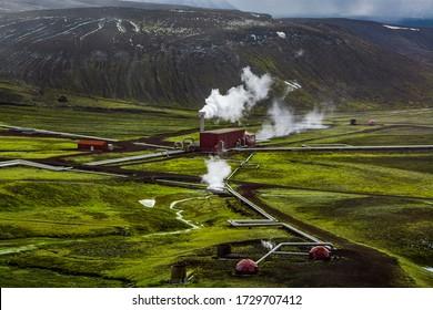 Krafla Power Plant in Iceland.