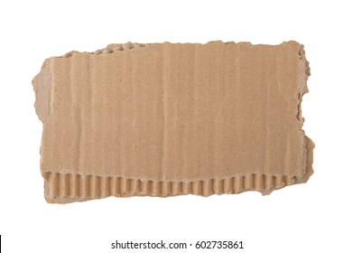 Kraft cardboard goffered. Cardboard ripped edge.