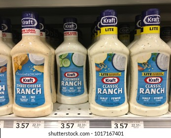 Kraft dressing section at Publix Saint Augustine, Florida USA. February 4, 2018