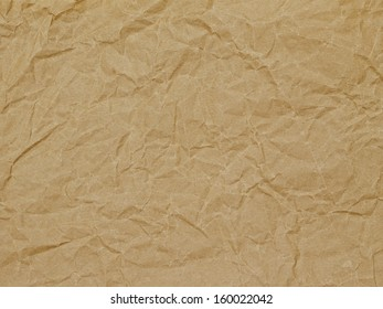 kraft paper with larger wrinkles