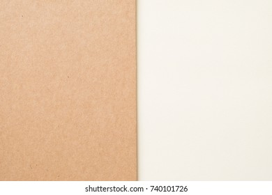 Kraft paper sheet overlap with brown and white color for background, banner or presentation template.