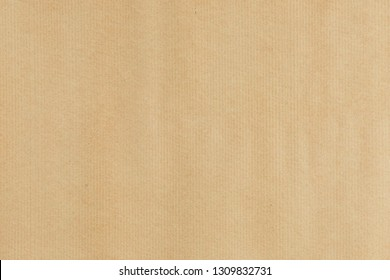 Kraft paper texture horizontal  striped pattern for wrapping. Kraft striped paper texture background.
