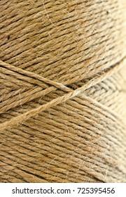 kraft thread close-up as background