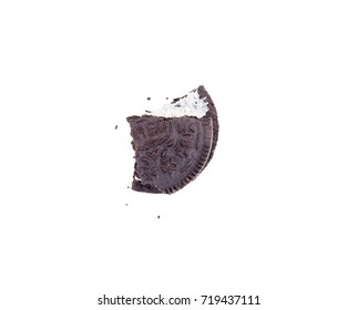 KRAGUJEVAC, SERBIA - August 6, 2017: Oreo cookie isolated on white background. Oreo is consisting of two chocolate wafers with a sweet creme filling in between. Oreo made by  Mondelez International.