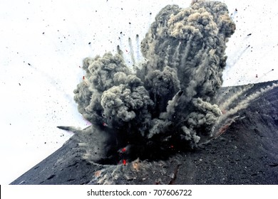 Krakatoa volcano Indonesia