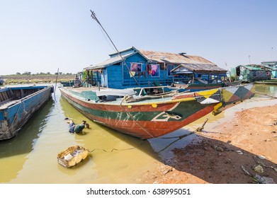 KRAKOR, CAMBODIA - February 12, 2017: Krakor Floating Village, Cambodia