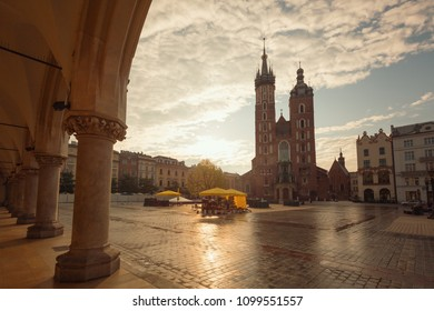 Krakow. Old town square