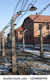 Krakow. Poland. 01.29.12. Auschwitz concentration camp, where up to three million people were murdered by the Nazis (2.5 million gassed, and 500,000 from disease and starvation).