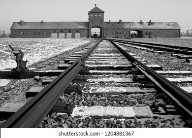 Krakow. Poland. 01.29.12. Auschwitz II-Birkenau, the extermination camp, where up to three million people were murdered by the Nazis (2.5 million gassed, and 500,000 from disease and starvation).
