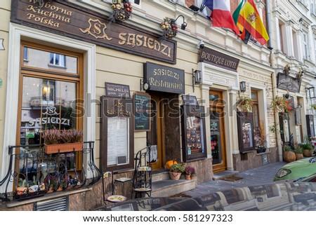 Krakow Poland 15th October 2016 Outside Stock Photo Edit