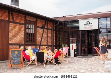 Krakow, Poland - 20.06.2018: Stara Zajezdnia Kraków by DeSilva restaurant