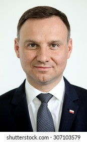 Krakow, POLAND - APRIL 19, 2015: New president of Poland