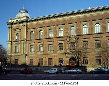 Krakow, Poland - April, 2008: Matejko Square, ASP, Academy of Fine Art