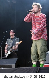 KRAKOW, POLAND - AUGUST 22, 2008: Coke Live Festival, o/p Hurt