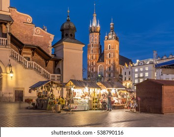 Krakow, Poland, Christmas fairs on main market square