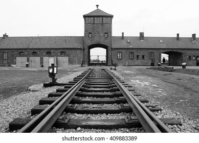Krakow, Poland; Dec 31, 2005; The 'Wall of Death' where prisoners from Block 11, were brought to be shot. Nazi concentration camp of Auschwitz-Birkenau