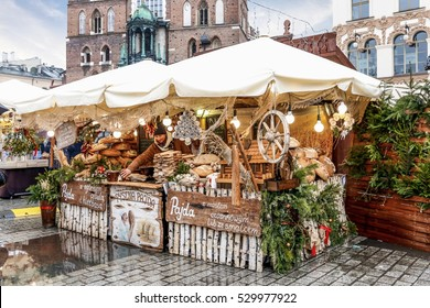 KRAKOW, POLAND - DECEMBER 01, 2016: Annual christmas fair at the Main Market Square in Krakow, Poland.