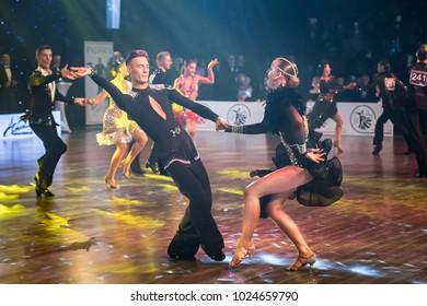 Krakow, Poland - December 09, 2017 - Wieczysty Cup Dance Competition. National Ballroom Dance Tournament Wieczysty Cup in Krakow