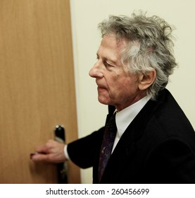 KRAKOW, POLAND - FEB 25, 2015: Roman Polanski in court in Cracow.The court is to decide whether to extradite Polanski to the USA for sentencing on charges  that the raped a 13-year old girl in 1977.