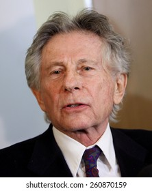 KRAKOW, POLAND - FEB 25, 2015: Roman Polanski in court in Cracow.The court is to decide whether to extradite Polanski to the USA for sentencing on charges that the raped a 13-year old girl in 1977