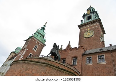 Krakow, Poland - January 4, 2013: Cathedral of St. Stanislav and Wenceslas