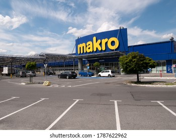 KRAKOW, POLAND - JULY 08, 2020: Makro Cash & Carry wholesale supermarket store in Krakow.