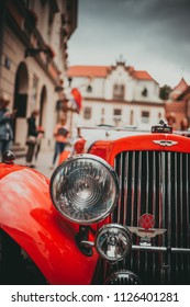 KRAKOW, POLAND - JULY 1, 2018: People celebrate New Orleans Jazz Sunday. Lot of musicians, swing dancers, vintage cars are there.