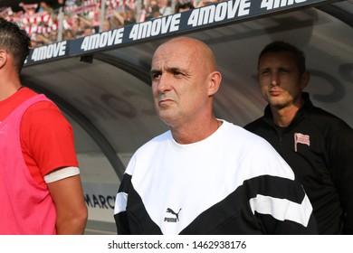 KRAKOW, POLAND - JULY 18, 2019: UEFA Europa League, qualifications: Cracovia Krakow - FC DAC 1904 Dunajska Streda o/p Michal Probierz