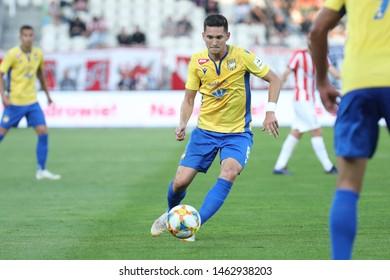 KRAKOW, POLAND - JULY 18, 2019: UEFA Europa League, qualifications: Cracovia Krakow - FC DAC 1904 Dunajska Streda o/p Mate Vida