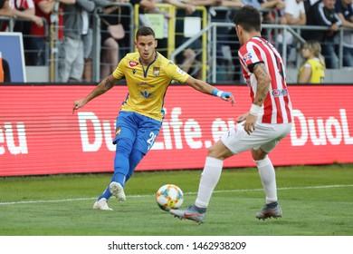 KRAKOW, POLAND - JULY 18, 2019: UEFA Europa League, qualifications: Cracovia Krakow - FC DAC 1904 Dunajska Streda o/p Kristian Kostrna