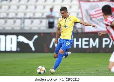 KRAKOW, POLAND - JULY 18, 2019: UEFA Europa League, qualifications: Cracovia Krakow - FC DAC 1904 Dunajska Streda o/p Lubomir Satka