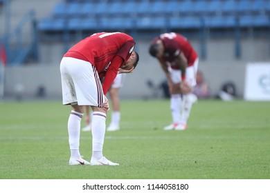 KRAKOW, POLAND - JULY 21, 2018: Polish Premier Football League Wisla Krakow - Arka Gdynia o/p Wisla Krakow