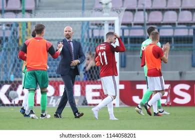 KRAKOW, POLAND - JULY 21, 2018: Polish Premier Football League Wisla Krakow - Arka Gdynia o/p Maciej Stolarczyk