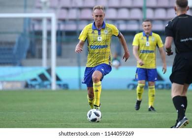 KRAKOW, POLAND - JULY 21, 2018: Polish Premier Football League Wisla Krakow - Arka Gdynia o/p Adam Marciniak