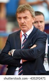 KRAKOW, POLAND - JUNE 06, 2015: EURO 2016 European International Friendly Game Poland - Lituania o/p  Zbigniew Boniek PZPN
