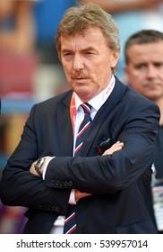KRAKOW, POLAND - JUNE 06, 2015: EURO 2016 European International Friendly Game Poland - Lituaniao/p Zbigniew Boniek PZPN