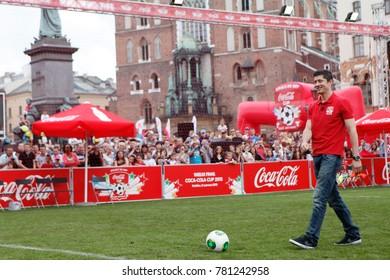 KRAKOW, POLAND - JUNE 08, 2013: Event Coca-Cola Cup final at Krakow o/p Robert Lewandowski