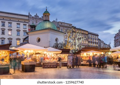 Krakow, Poland, Main Market Square  and Christmas fairs